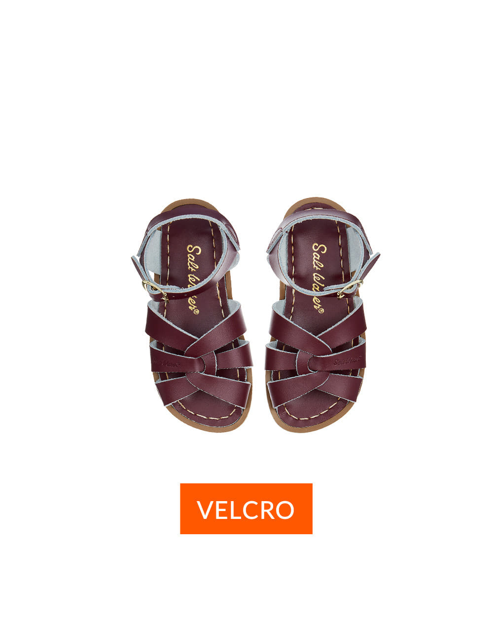 SALT-WATER SANDAL  CHILD VELCRO ORIGINAL  Claret