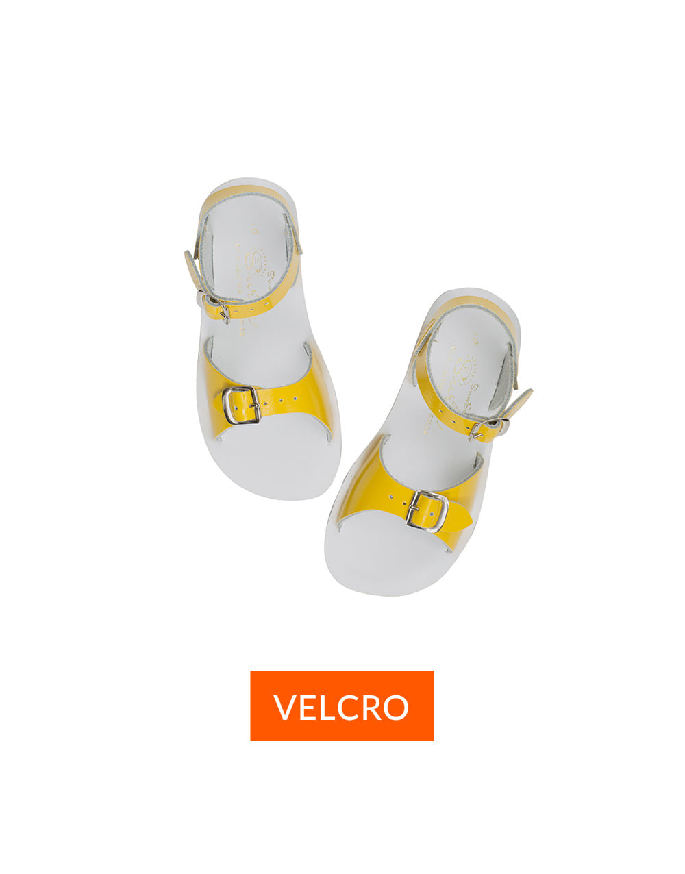 SALT-WATER SANDAL  CHILD VELCRO SURFER PREMIUM  Shiny Yellow
