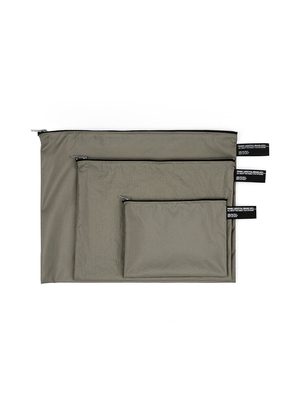 GBH HOME Waterproof Pouch GREY (3 SIZE)