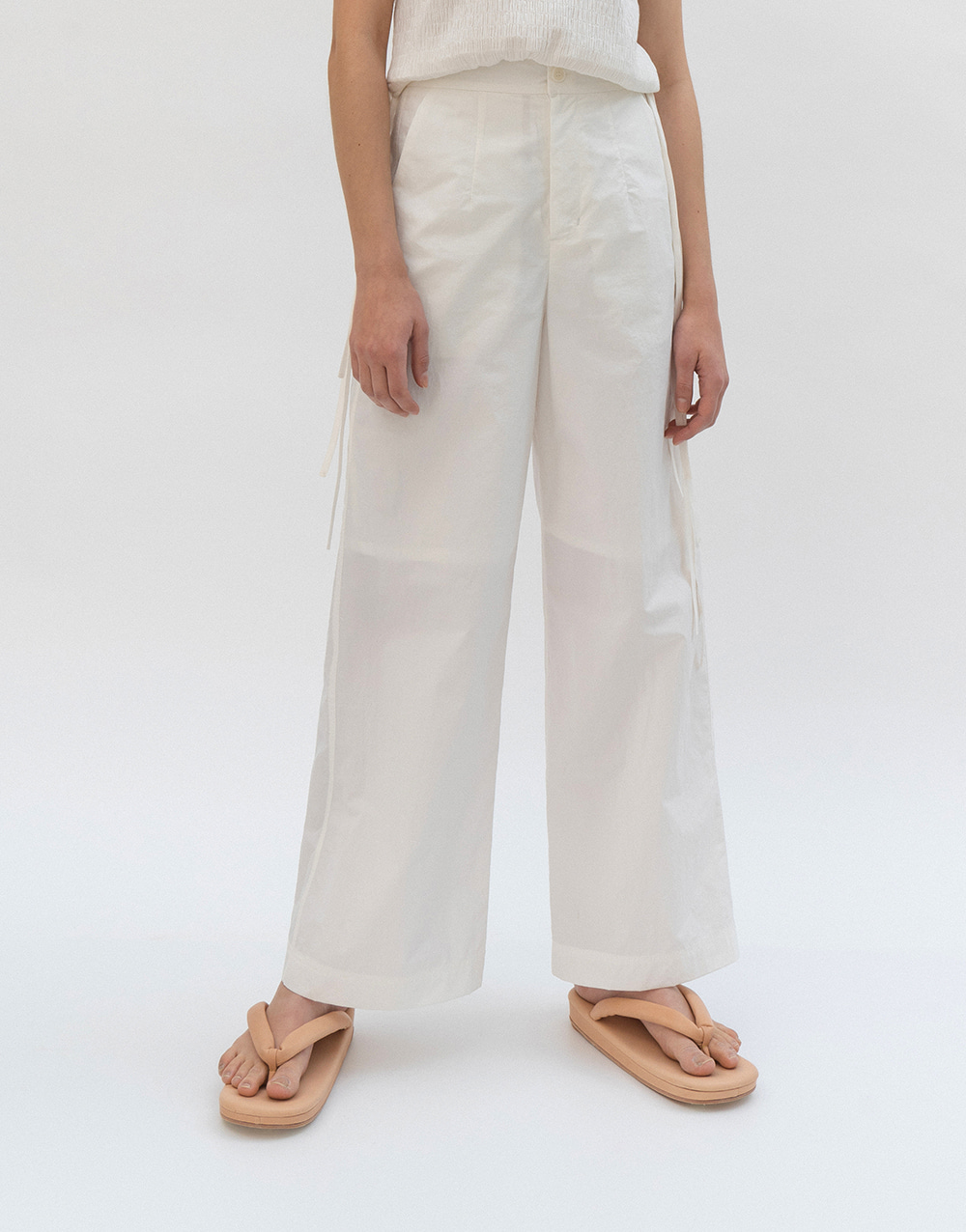 GBH APPAREL ADULT  Crispy Wide Pants WHITE