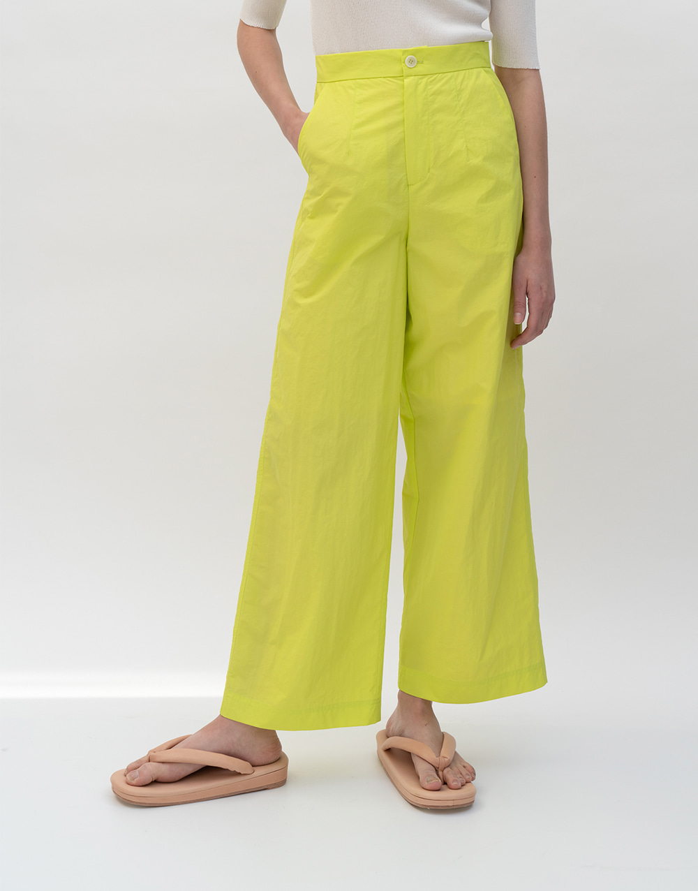 GBH APPAREL ADULT  Crispy Wide Pants LIME