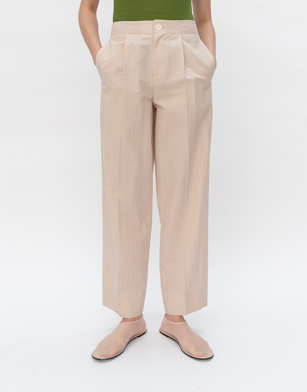 GBH APPAREL ADULT  Compact Pants PALE BEIGE