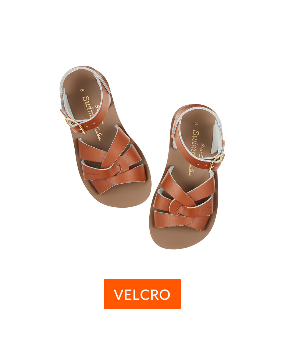 SALT-WATER SANDAL  CHILD VELCRO SWIMMER  Tan