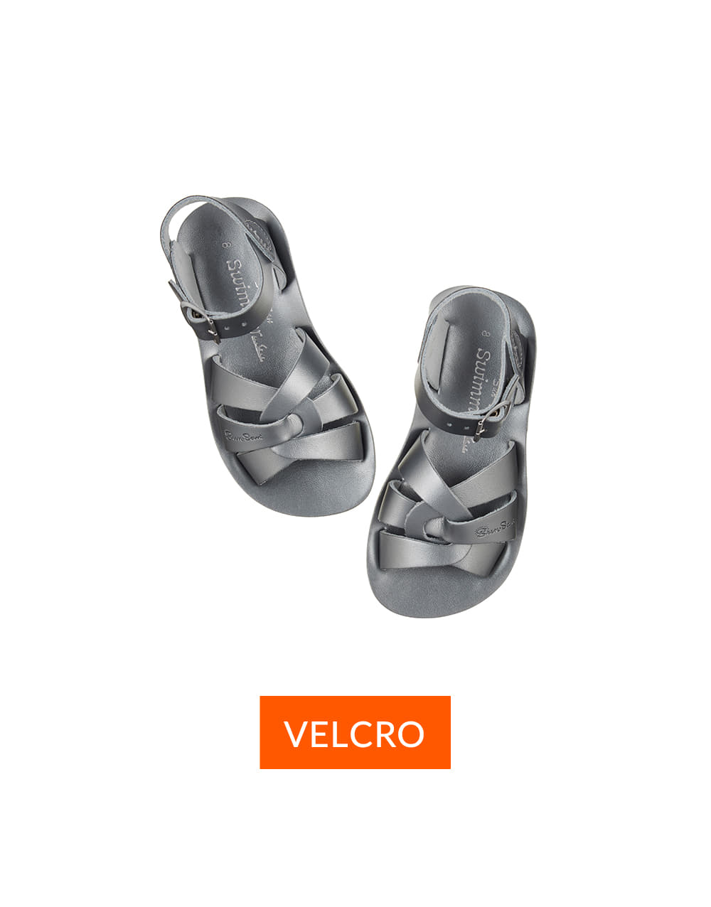 SALT-WATER SANDAL  CHILD VELCRO SWIMMER PREMIUM  Pewter