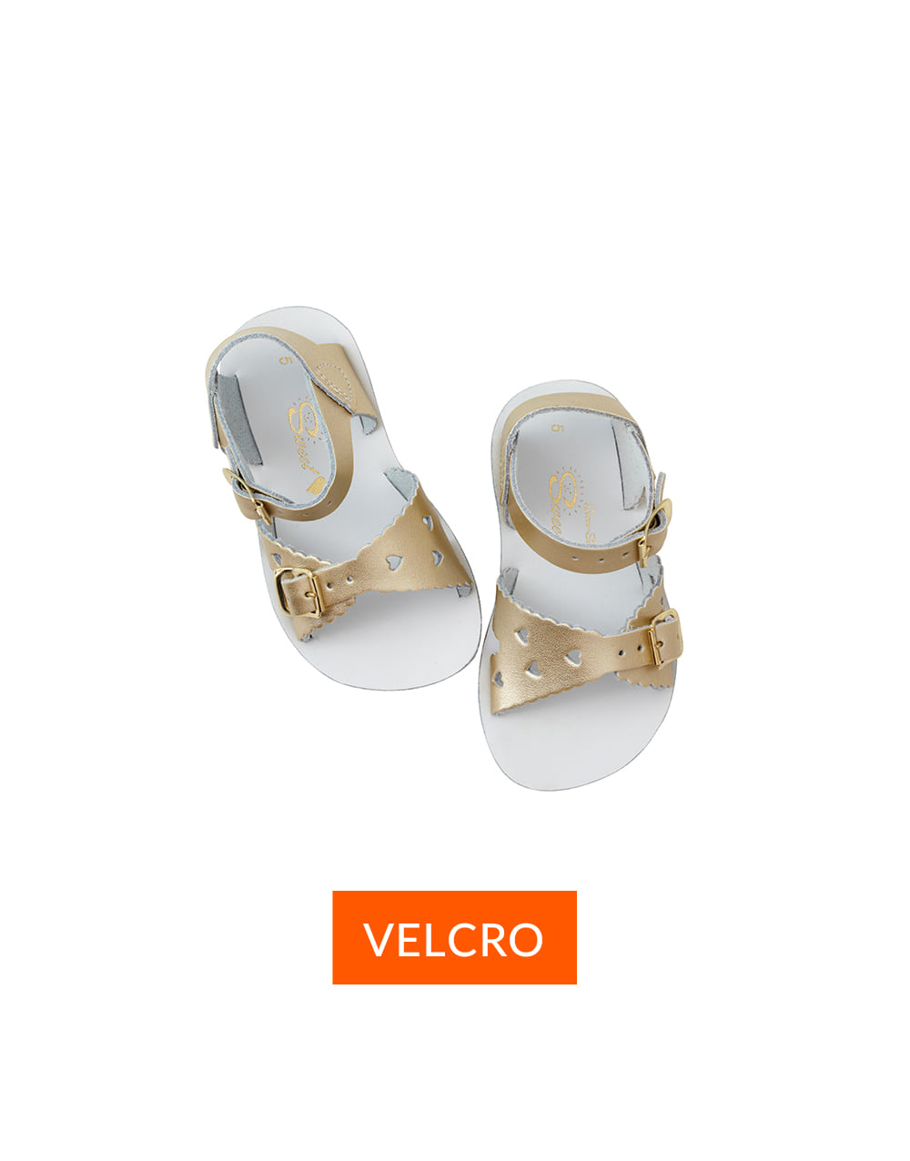 SALT-WATER SANDAL  CHILD VELCRO  SWEETHEART PREMIUM  Gold