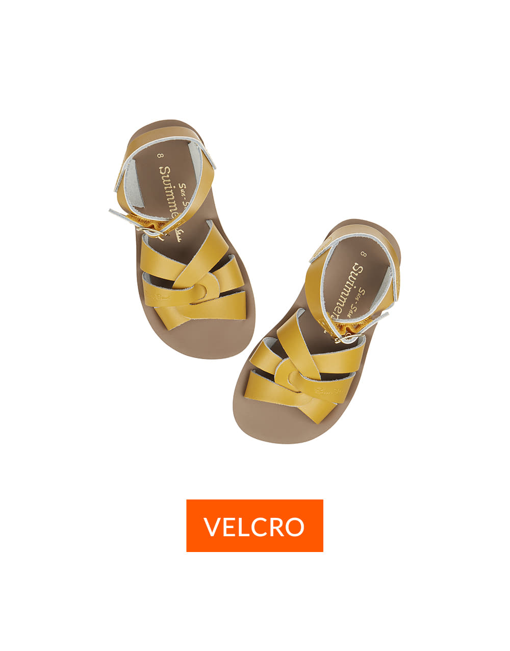 SALT-WATER SANDAL  CHILD VELCRO SWIMMER  Mustard