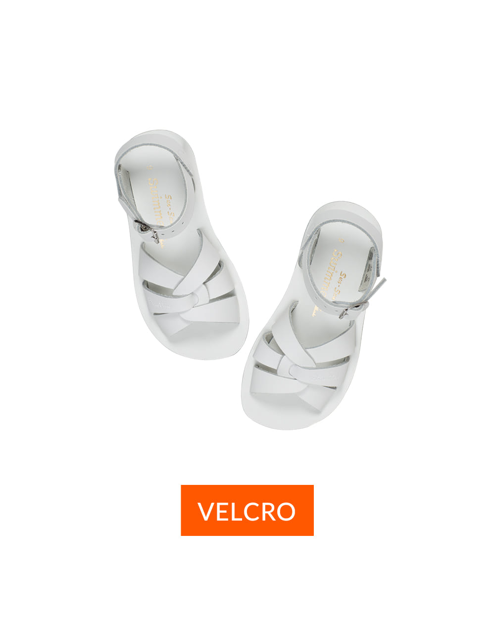 SALT-WATER SANDAL  CHILD VELCRO SWIMMER  White