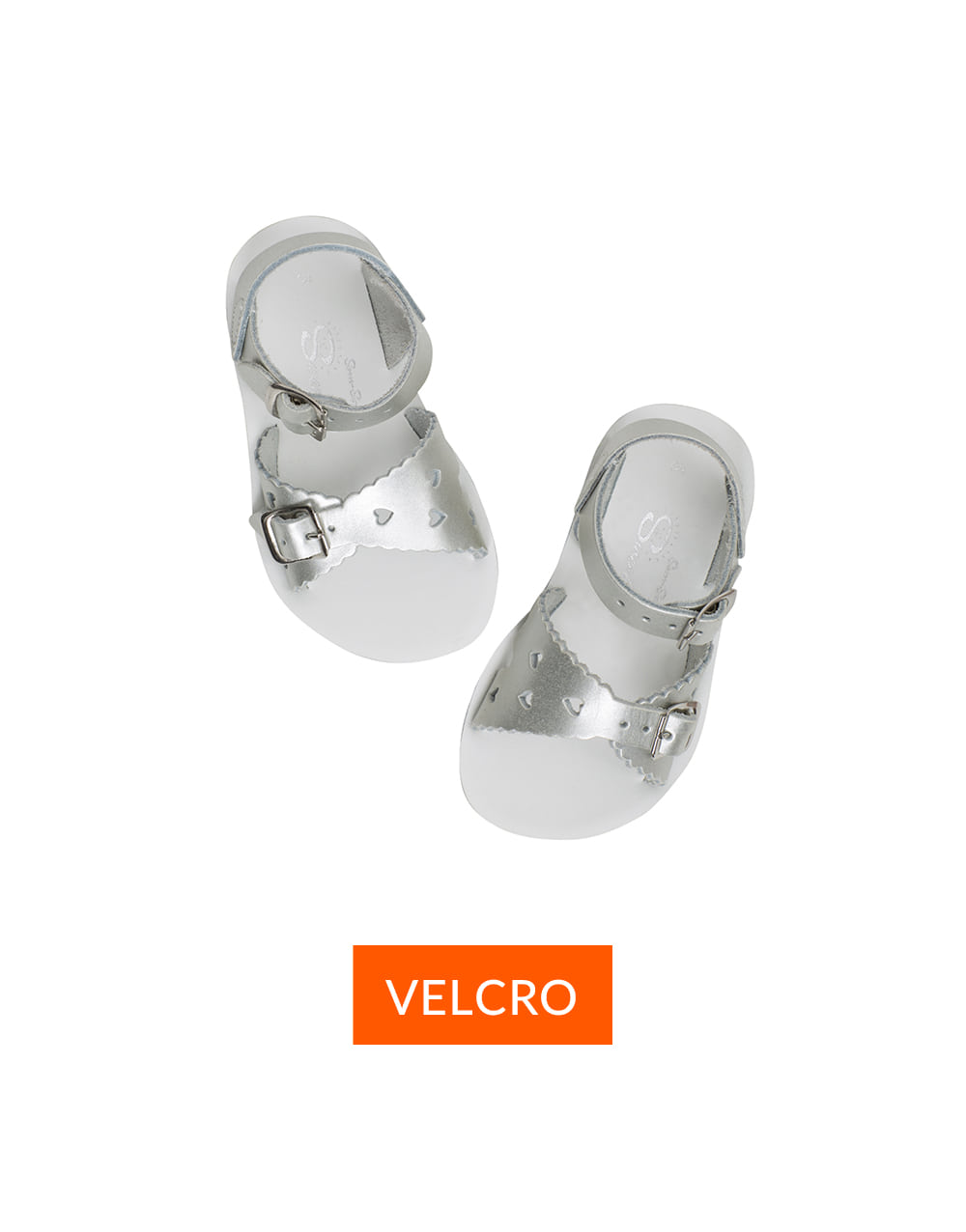 SALT-WATER SANDAL  CHILD VELCRO  SWEETHEART PREMIUM  Silver