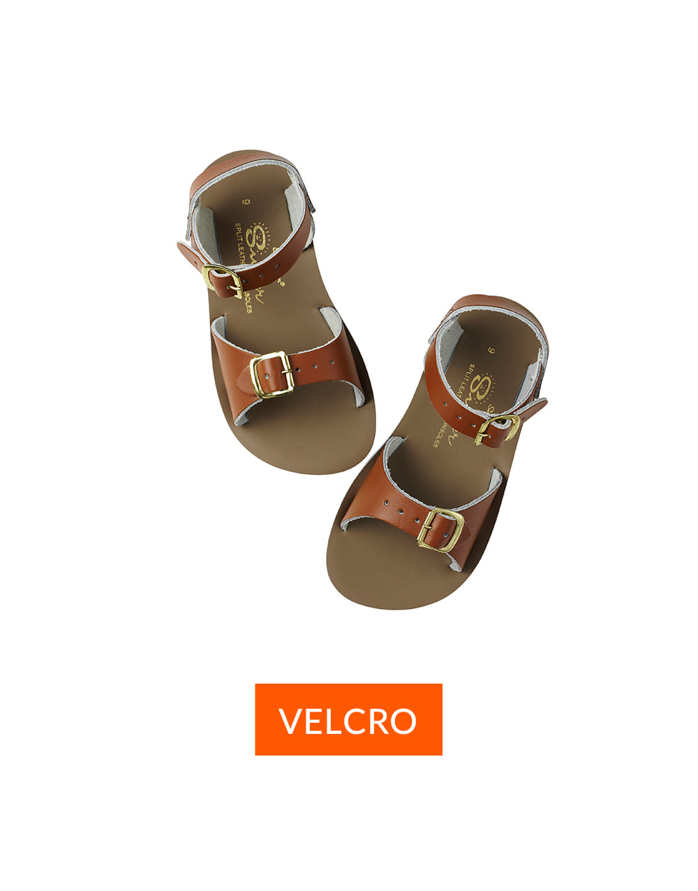 SALT-WATER SANDAL  CHILD VELCRO SURFER  Tan