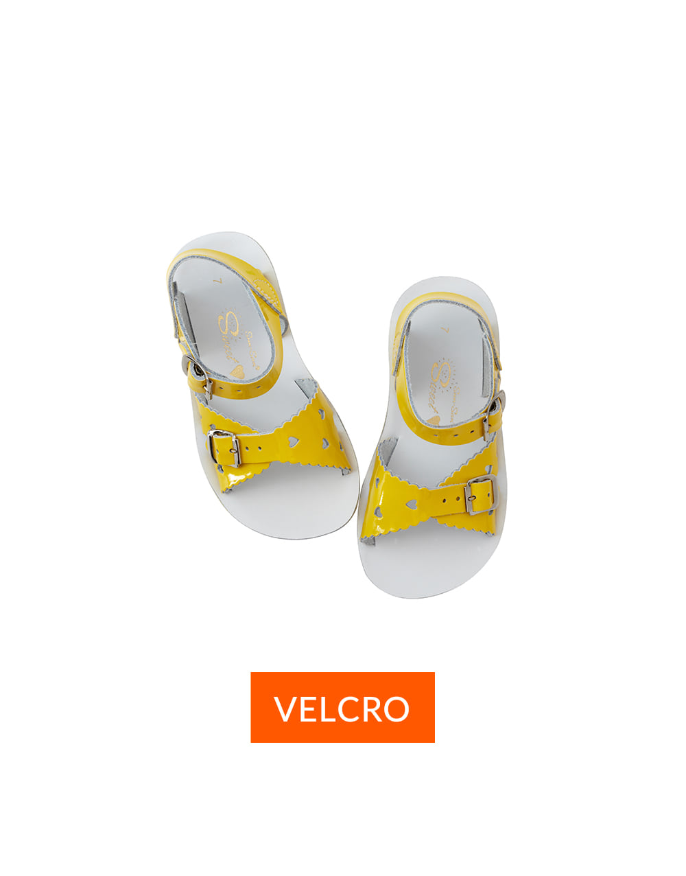 SALT-WATER SANDAL  CHILD VELCRO  SWEETHEART PREMIUM  Shiny Yellow