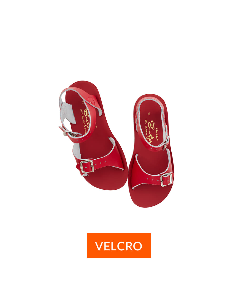 SALT-WATER SANDAL  CHILD VELCRO SURFER  Red