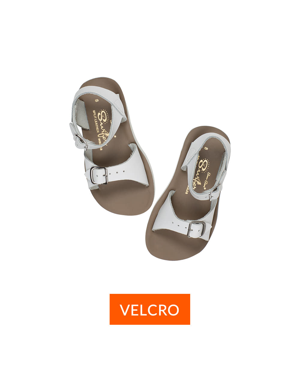 SALT-WATER SANDAL  CHILD VELCRO SURFER  White