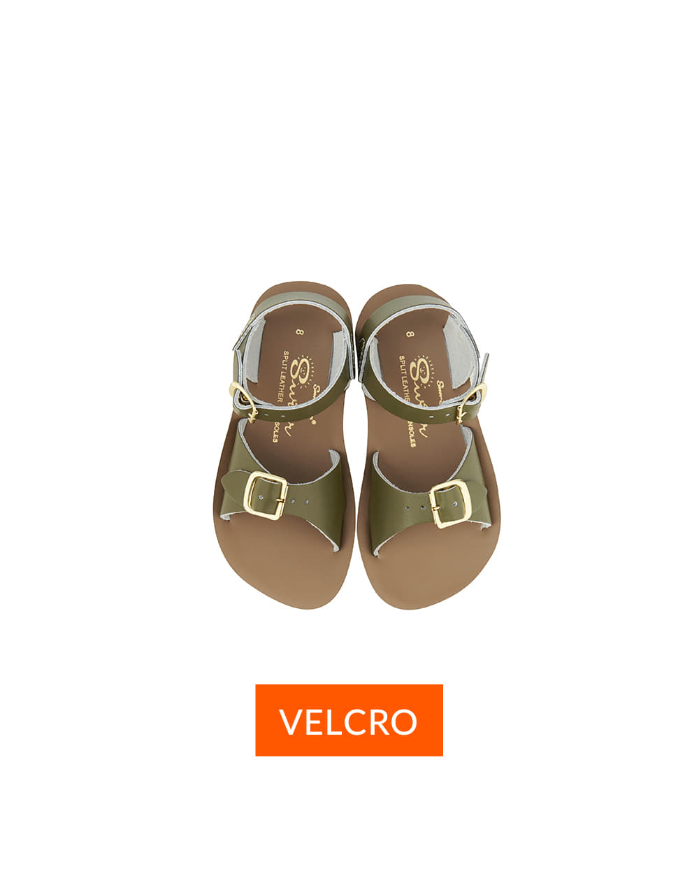 SALT-WATER SANDAL CHILD VELCRO SURFER  Olive