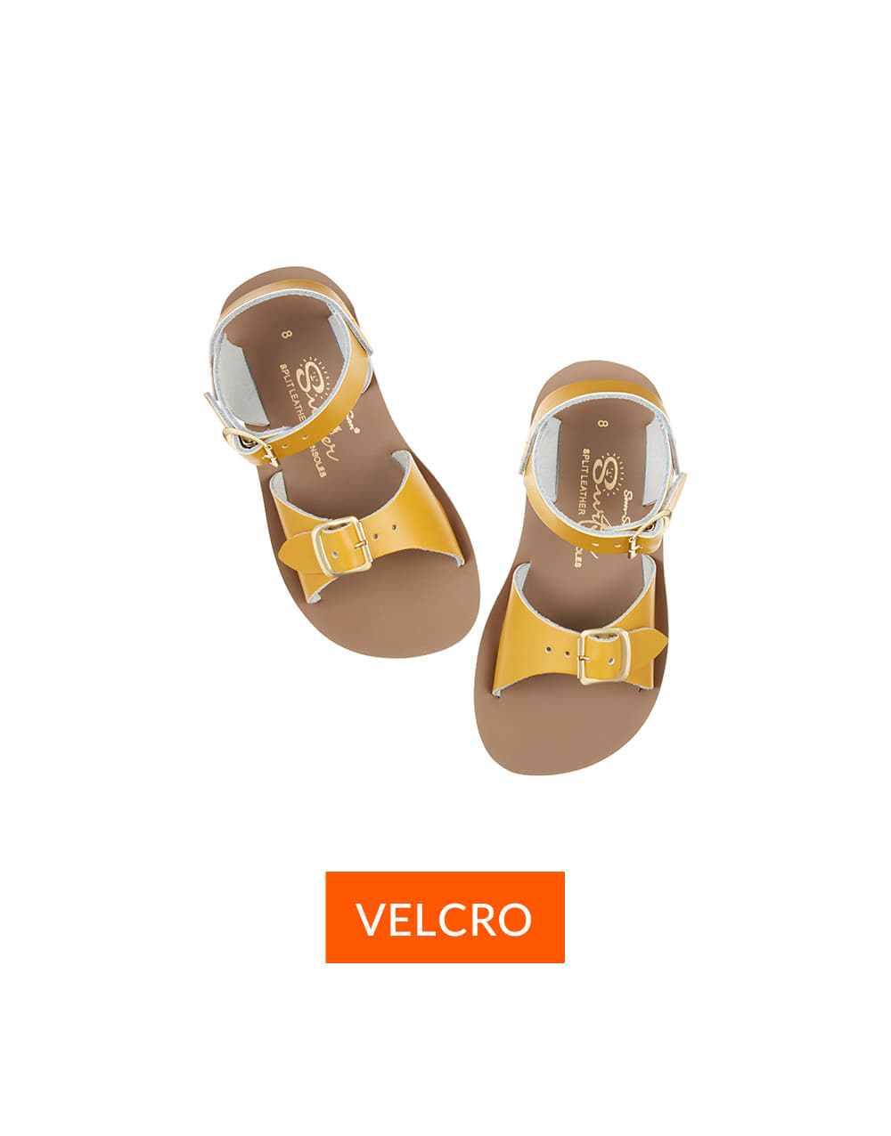 SALT-WATER SANDAL  CHILD VELCRO SURFER  Mustard