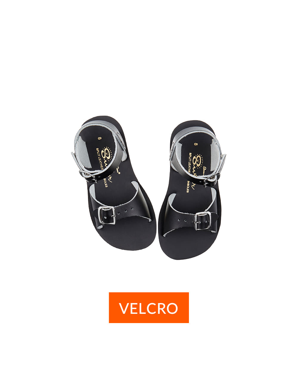 SALT-WATER SANDAL  CHILD VELCRO SURFER  Black