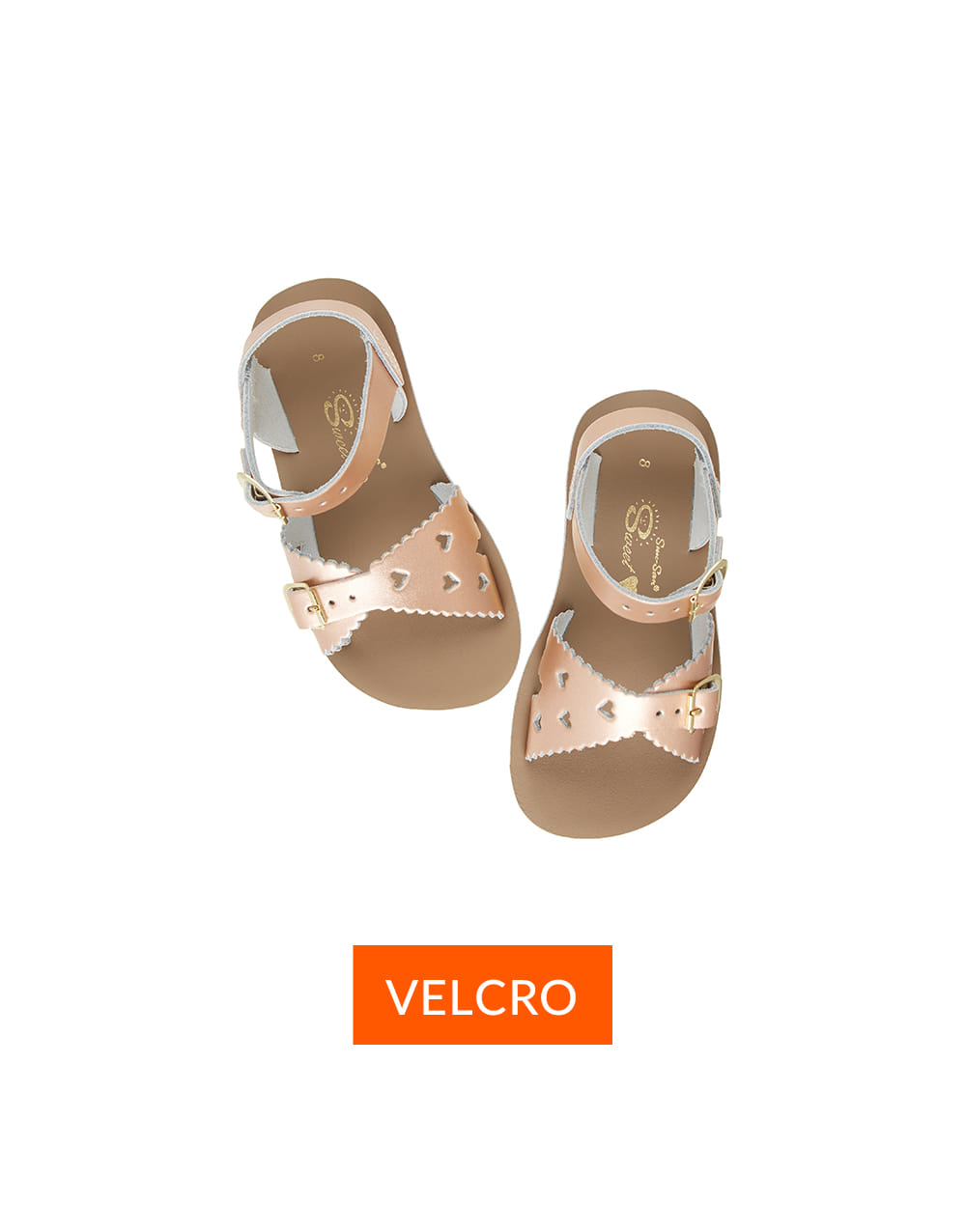 SALT-WATER SANDAL  CHILD VELCRO  SWEETHEART PREMIUM  Rose Gold