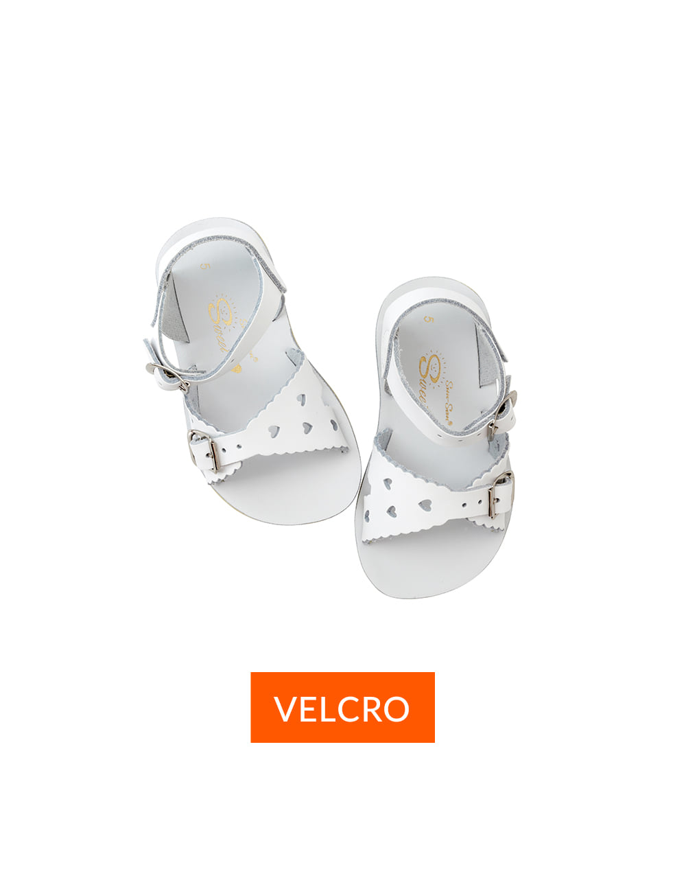 SALT-WATER SANDAL  CHILD VELCRO  SWEETHEART  White