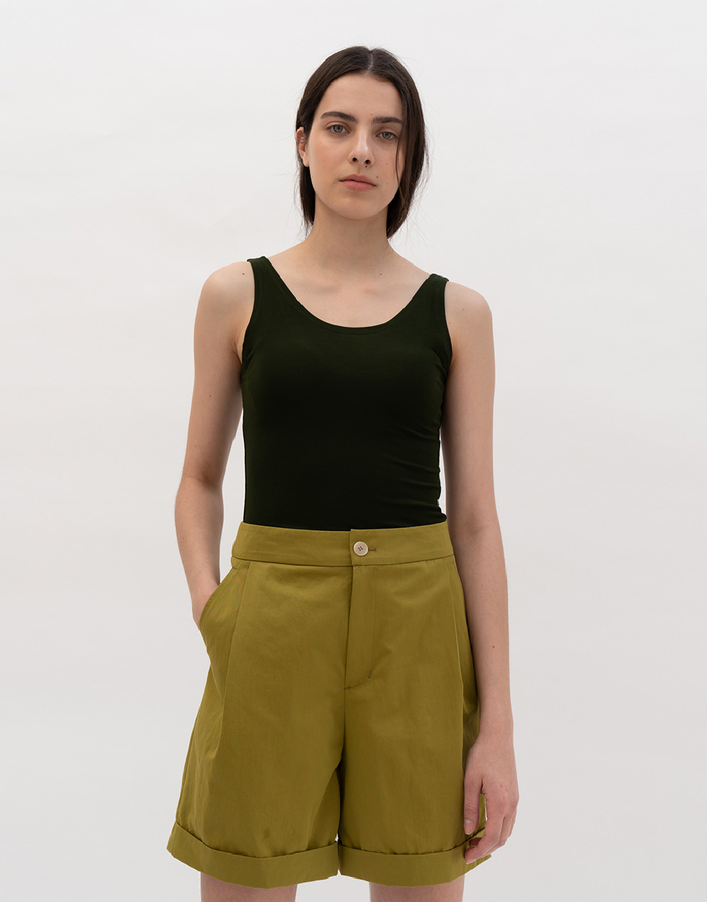 GBH APPAREL ADULT Lyocell Sleeveless Top PINE GREEN