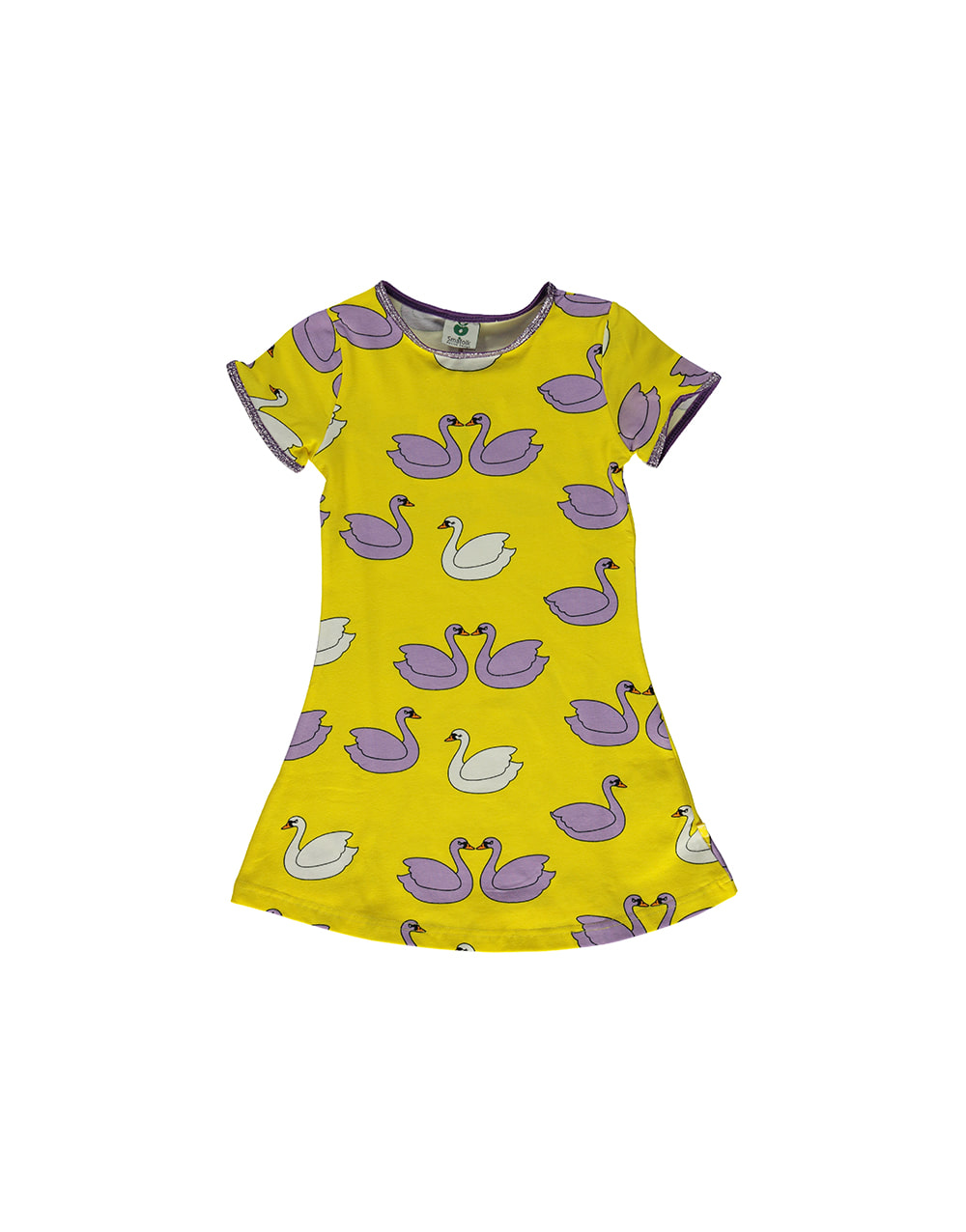 SMAFOLK  Dress with  Swans  Yellow