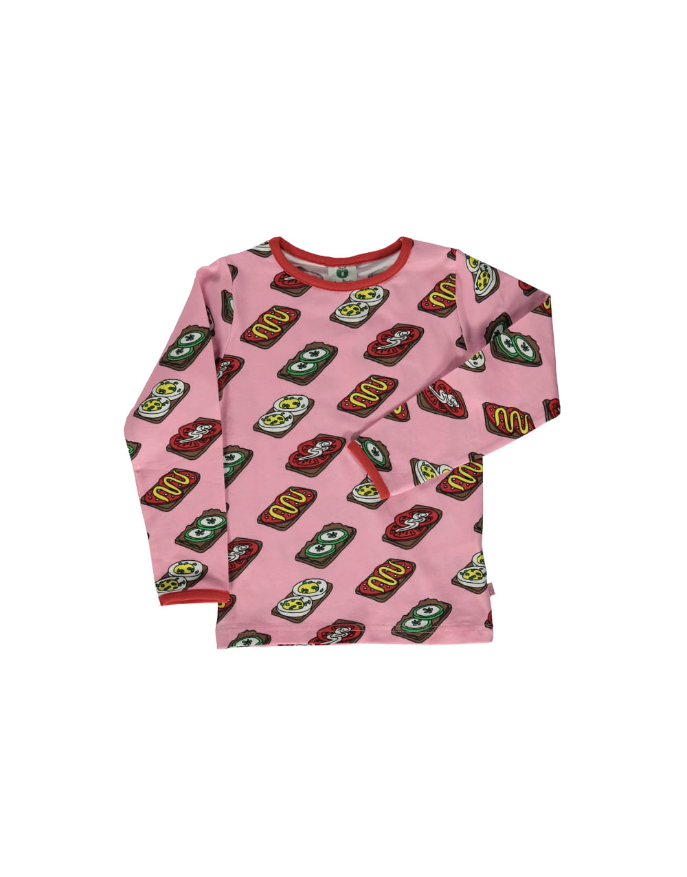 SMAFOLK  T-shirt with Food  Sea Pink