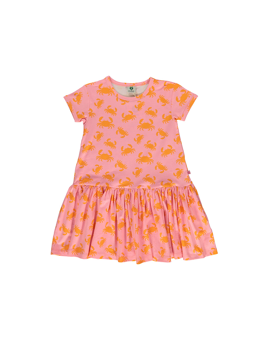 SMAFOLK  Dress with Crabs  Sea pink