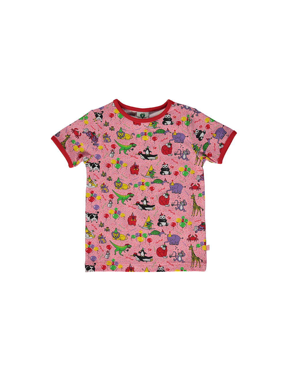 SMAFOLK  T-shirt with Birthday  Sea pink
