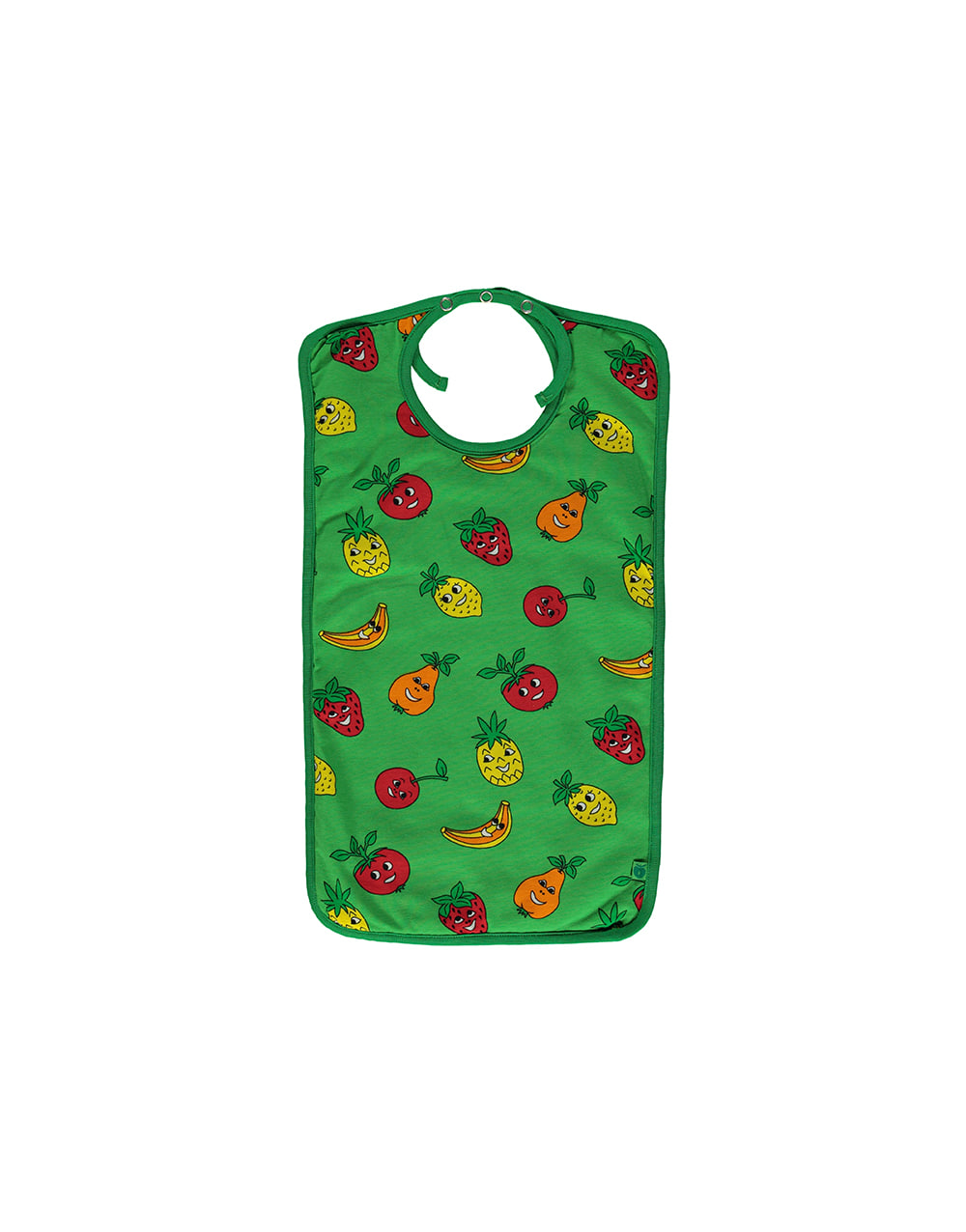 SMAFOLK  Turnable Bib Square with fruits   big Green