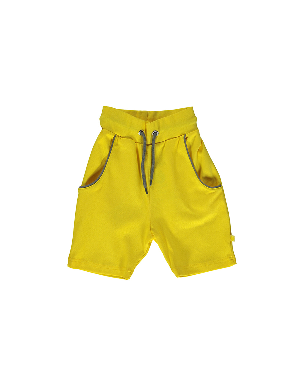 SMAFOLK Shorts solid color with Apple  Yellow