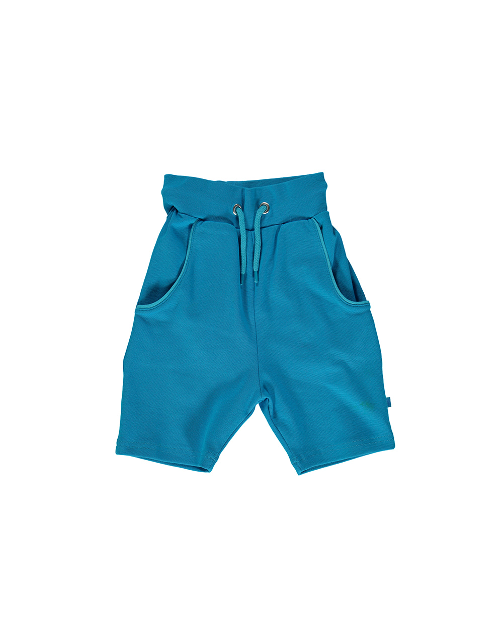 SMAFOLK Shorts solid color with Apple Ocean Blue