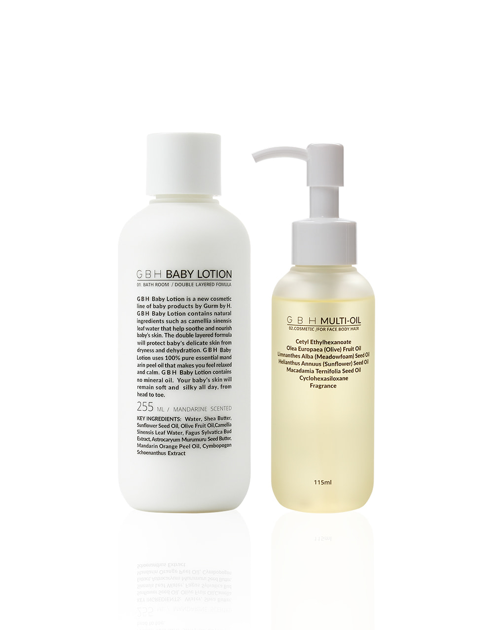 GBH COSMETIC  MULTI-OIL&BABY LOTION SET  셋트 할인 10%