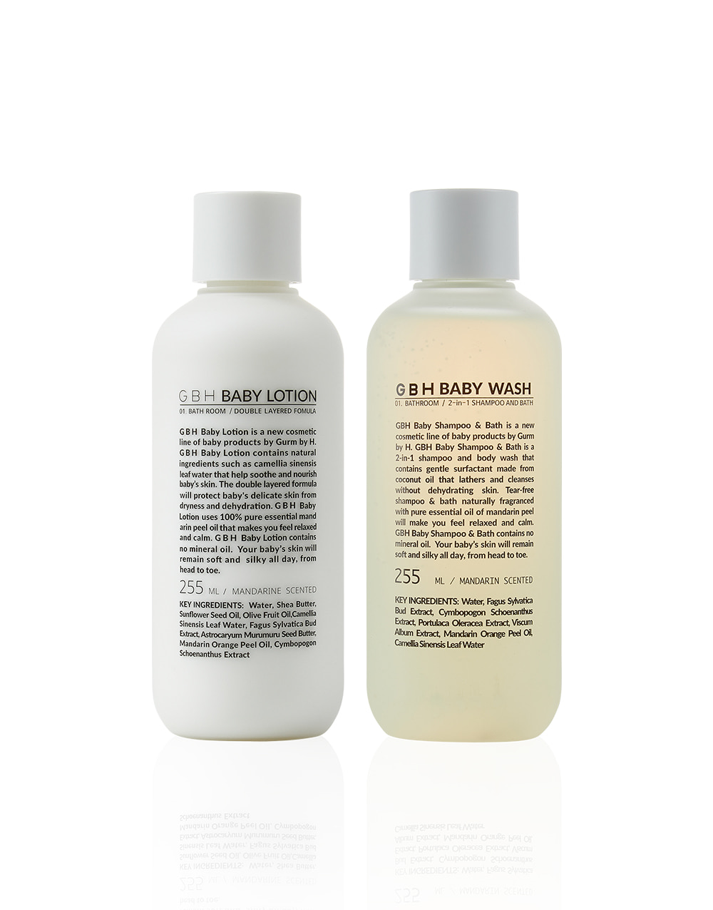GBH COSMETIC  BABY WASH&LOTION SET  셋트 할인 10%