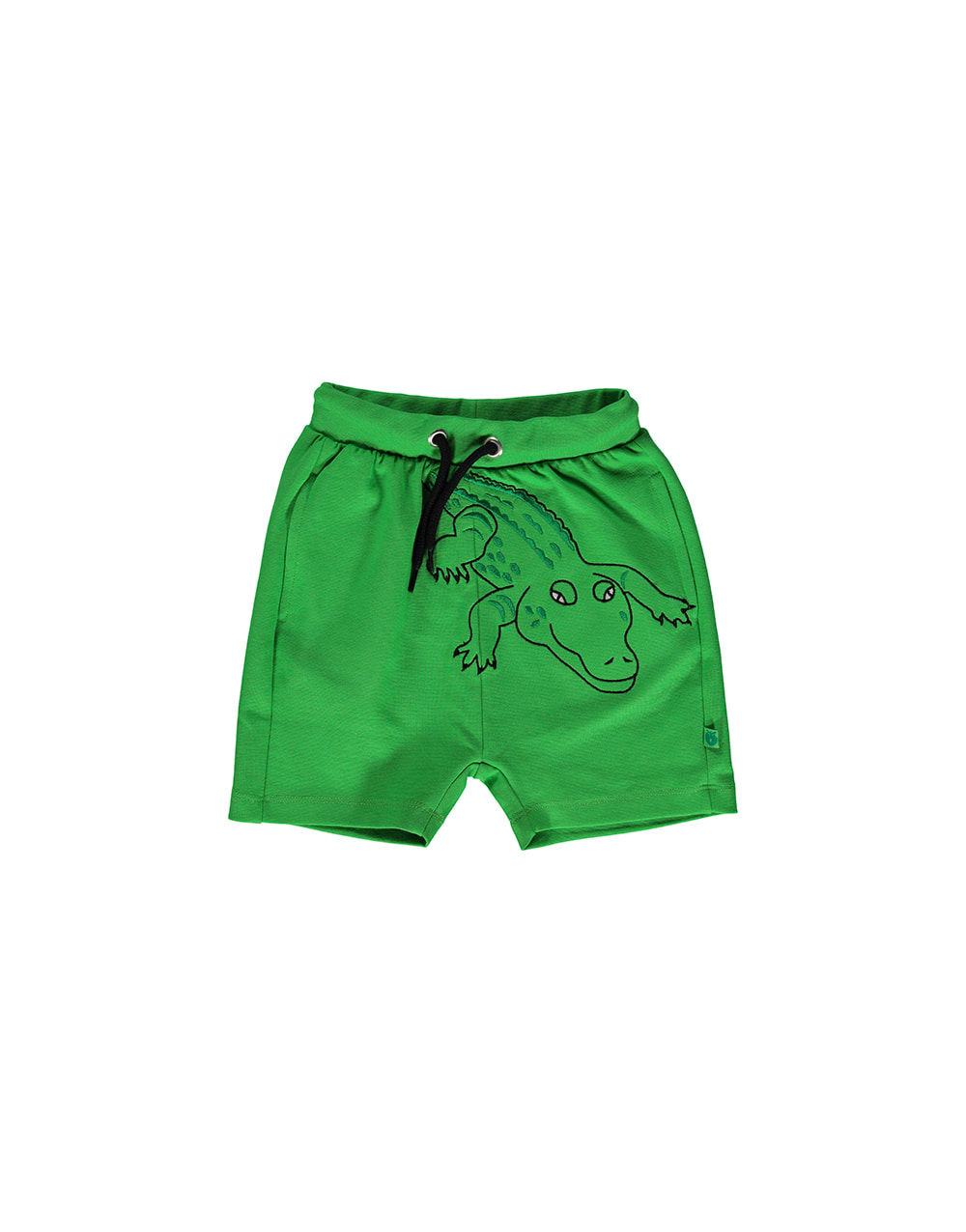 SMAFOLK Shorts with Crocodile  Green